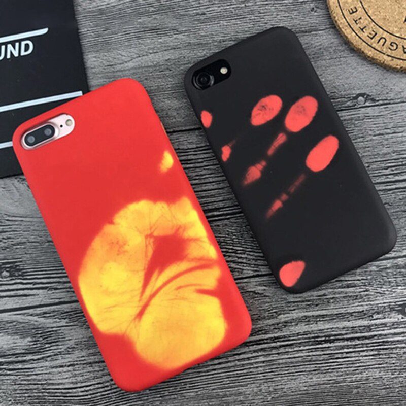 Funda de teléfono para Xiaomi de inducción térmica Redmi Note 5 6 Pro funda con sensor térmico para Redmi 5A GO funda protectora trasera Coque