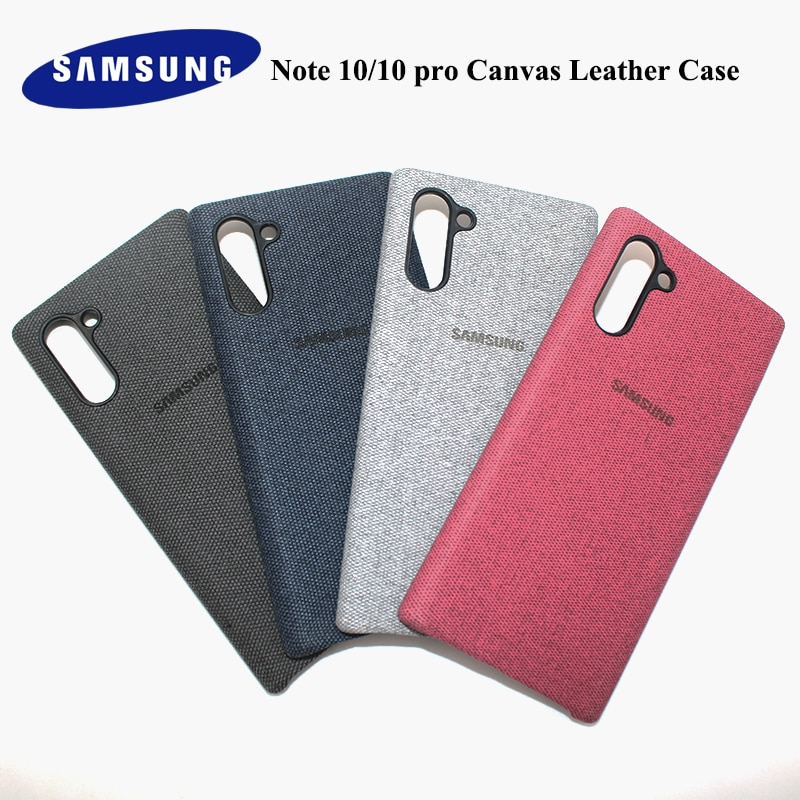 Samsung note 10 plus caso de tecido ultral pele fina lona couro capa protetora para galaxy note 10 tecido caso