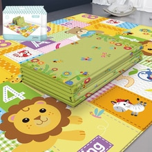 EVA tapis rampant pour enfants Double face imperméable décor de chambre en mousse souple tapis de pépinière grand pliable bébé tapis de jeu Puzzle