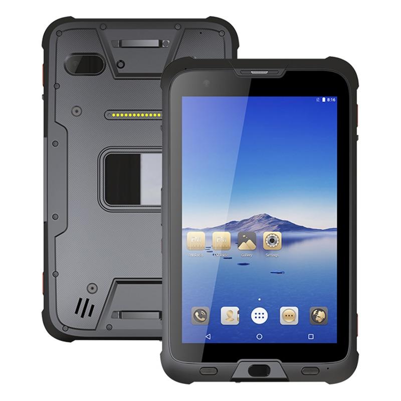 UNIWA T1 MIL-STD-810G وعرة IP67 مقاوم للماء 8 ''ثماني النواة 4GB 64GB 7500mAh 2.4 GHz/5 GHz المزدوج واي فاي NFC أندرويد 7.0 POE اللوحي
