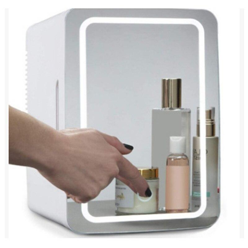 8L Mini Makeup Fridge Portable Cosmetic Refrigerator Compact Glass Panel...