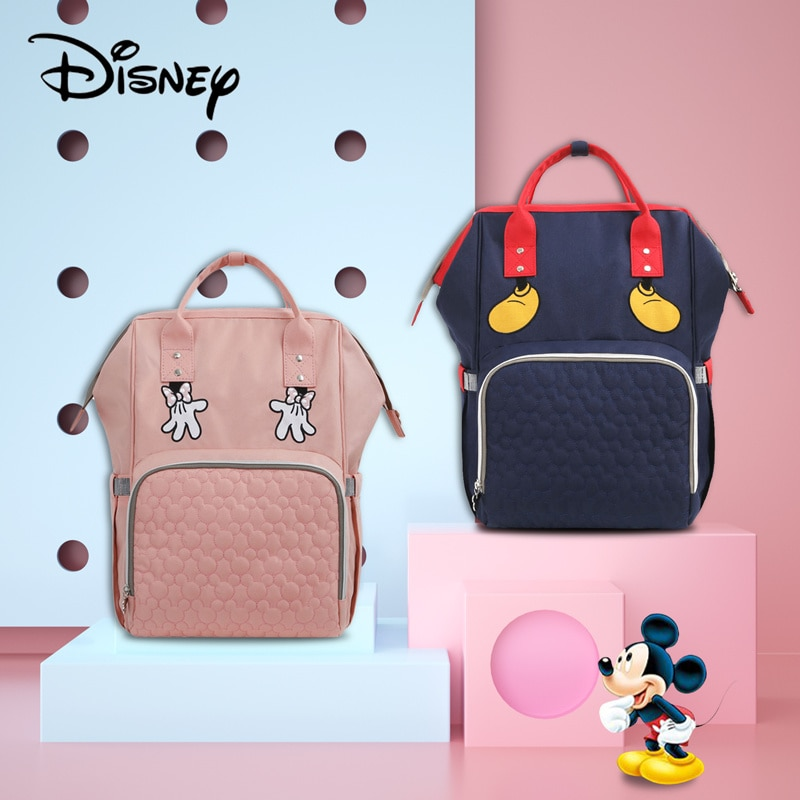 Disney USB Diaper Bag Baby Backpack Mummy Diaper Bag Backpack Fashion Mummy Maternity Nappy Bag Large Capacity Baby Stroller Bag disney mickey mouse diaper bag waterproof baby care mummy bag maternity backpack large nappy bag oxford cloth baby bag