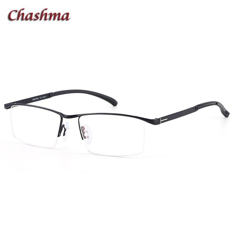 Chashma, montura dorada para caballero, gafas ópticas para hombre, gafas graduadas de aleación de titanio con diseño de marca, gafas de luz azul