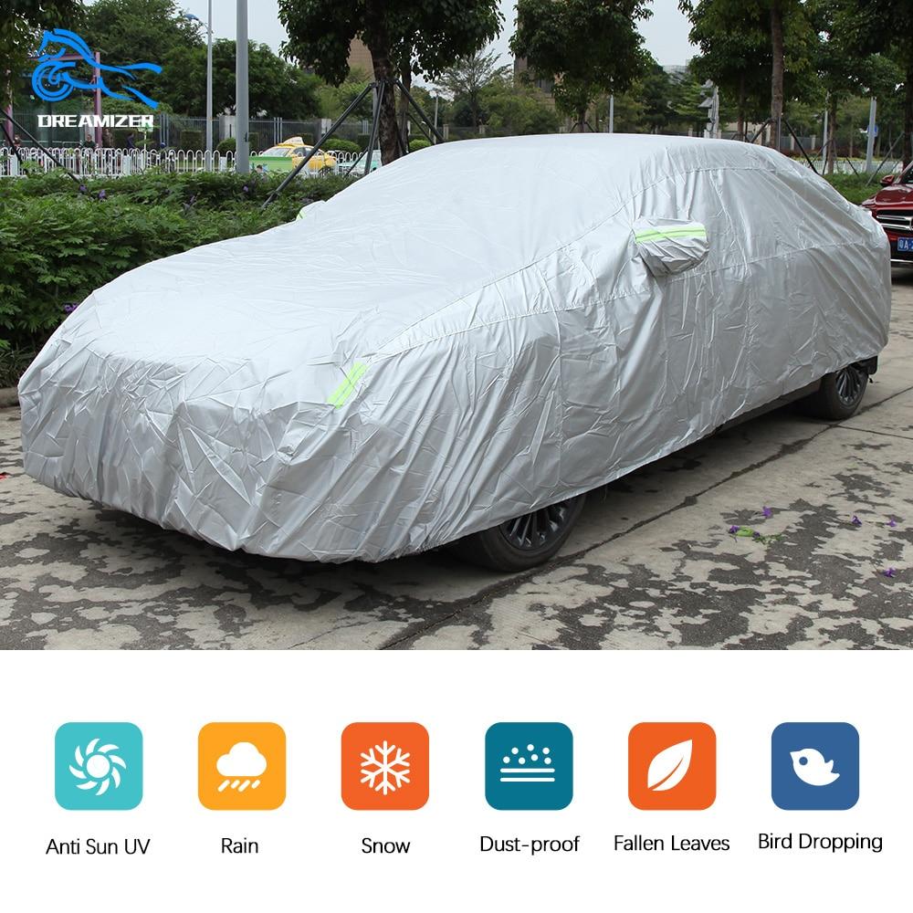 Universal Exterior Car Covers Waterproof  Outdoor Car Sun Protection Sunshade Anti Rain Dust Winter Snow Cover For Sedan SUV
