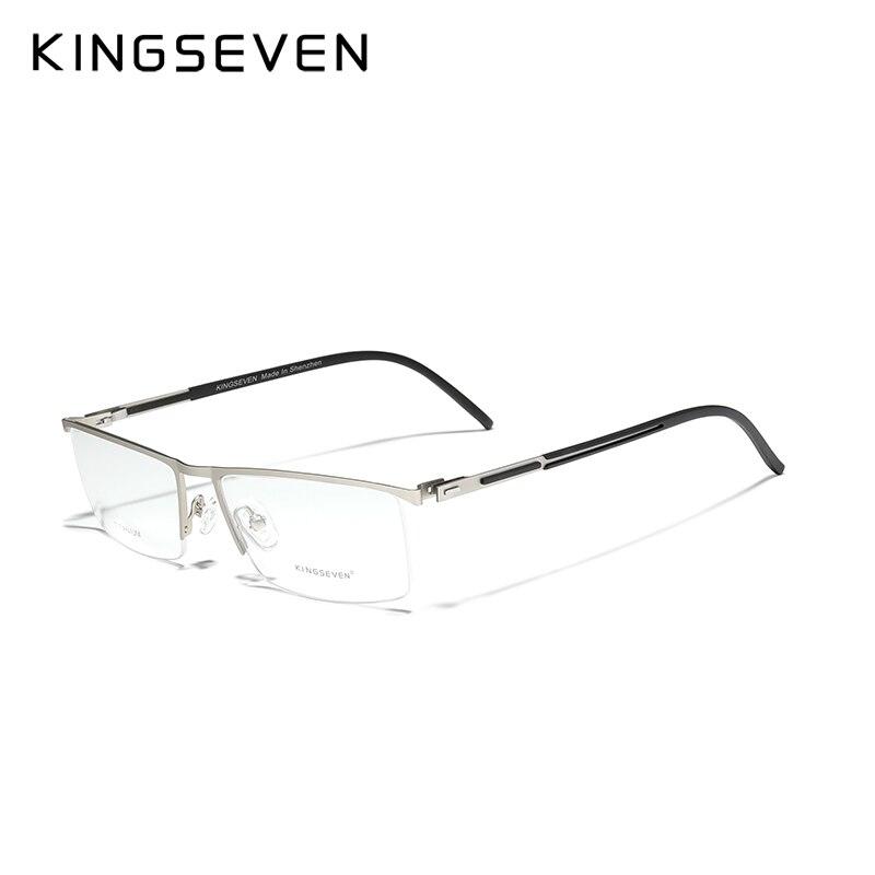 KINGSEVEN DESIGN Men Titanium Alloy Glasses Frame Fashion Male Business Style Ultralight Custom pres