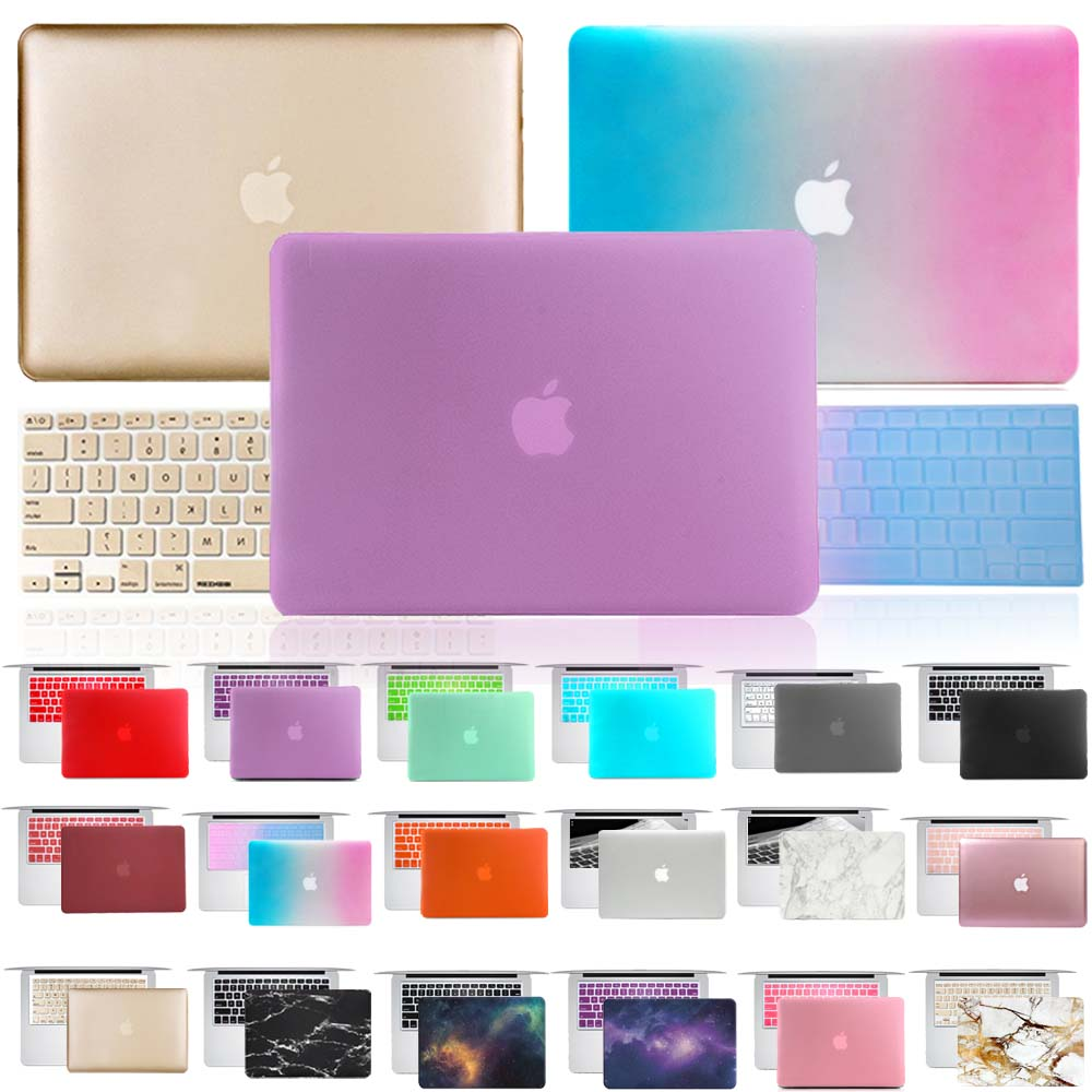 AliExpress - For Apple MacBook Air Pro Retina 11 12 13 15 Inch Laptop Case + Keyboard Cover with Solid Color, Marble and Starry Sky Series