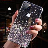 Роскошный блестящий чехол для телефона iPhone 12 Pro 11 Pro X XS Max XR силиконовый чехол для iPhone SE 2020 7 8 6 6S Plus задняя крышка