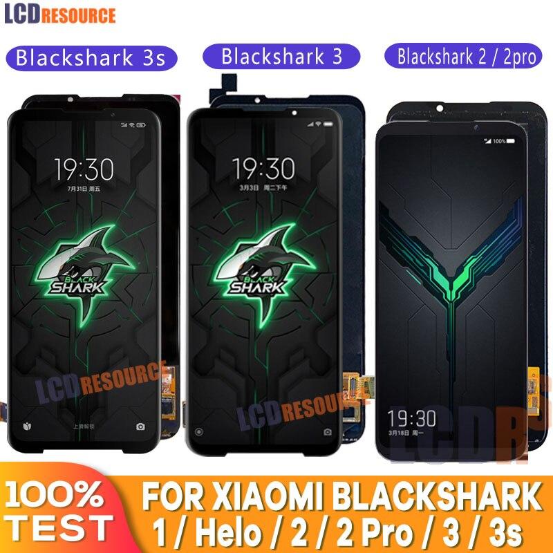 AAA جودة LCD ل شاومي القرش الأسود 2 برو/هيلو/3/3S LCD عرض استبدال شاشة تعمل باللمس الجمعية ل شاشة Blackshark