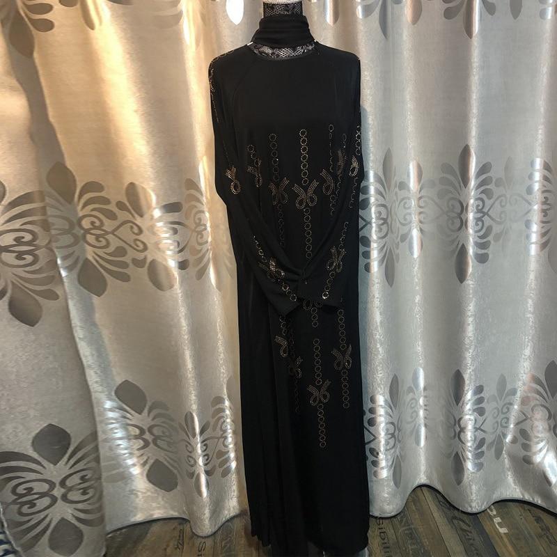 Abaya Dubai Muslim Dress with Hijab Femme Caftan Moroccan Kaftan Abayas for Women Ramadan UAE Oman Elbise Islamic Clothing Burka