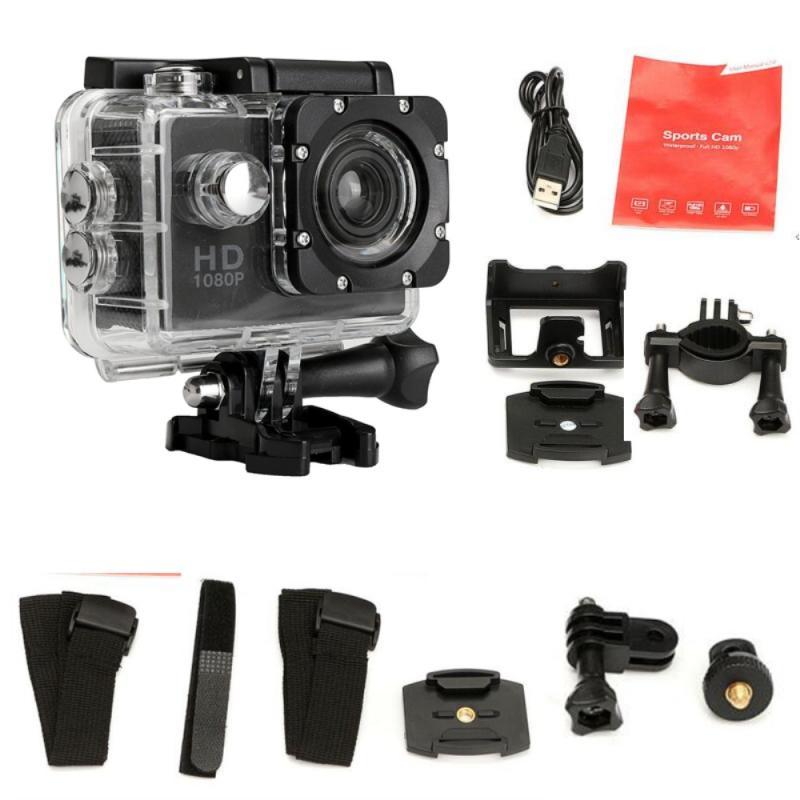 USB 2.0 12MP Camera HD 1080P Mini Sport Action Camera Ultra 30M Underwater Waterproof Helmet Video Recording Cameras Sport Cam