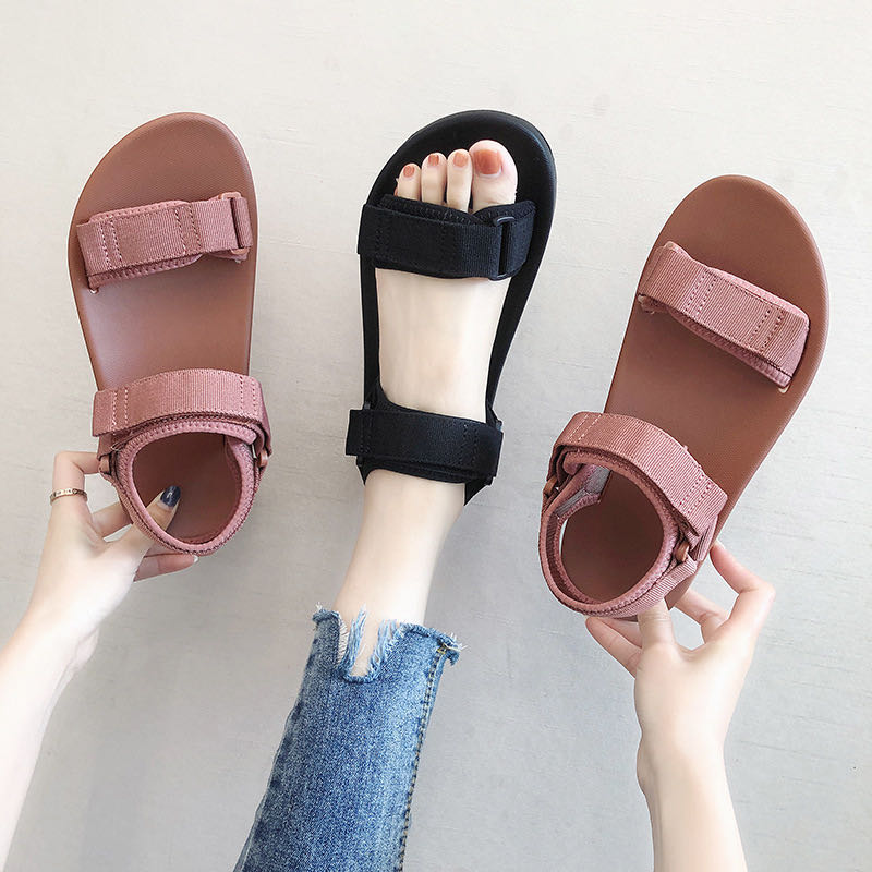 صنادل نسائية أحذية رائعة للنساء صنادل أحذية صيفية 2019 صنادل أرضية نسائية قابلة للطي