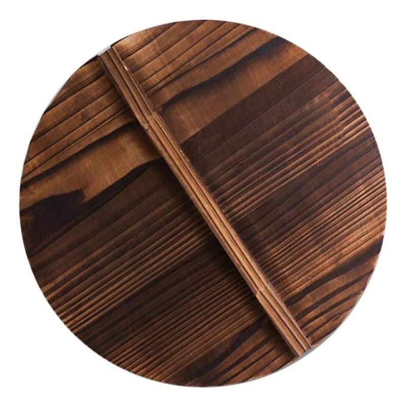 Tampa de panela de madeira multi-funcional do punho da tampa da panela da cozinha eco-amigável anti-escaldante tampas do pote de cozimento de madeira cobrir 40cm