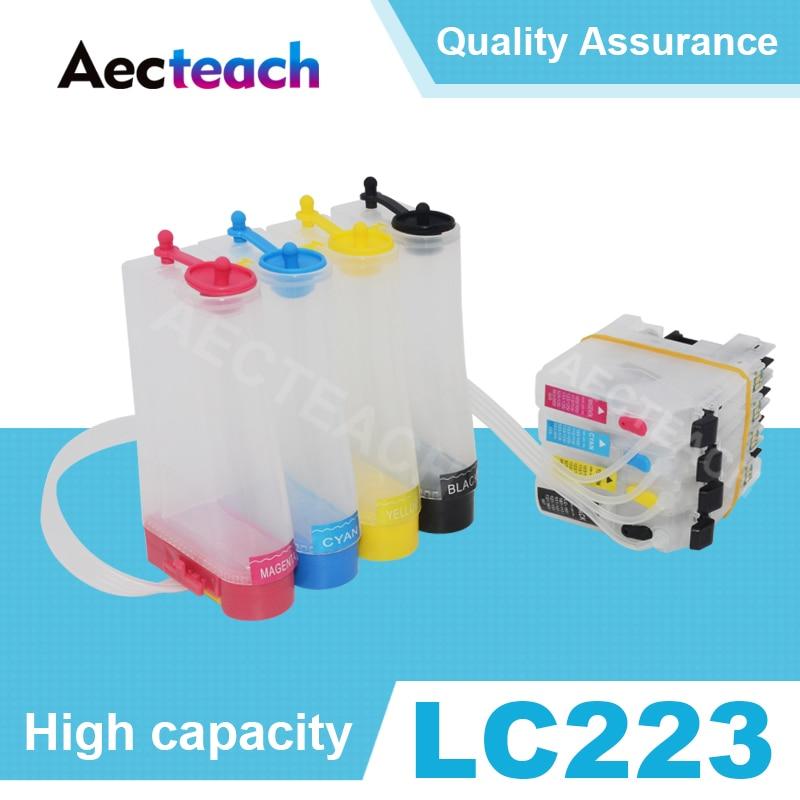 Sistema de tinta Aecteach impresora Ciss para Brother LC223 MFC-J4420DW J4625DW J5320DW J5620DW J5625DW Cartridge cartucho de impresora