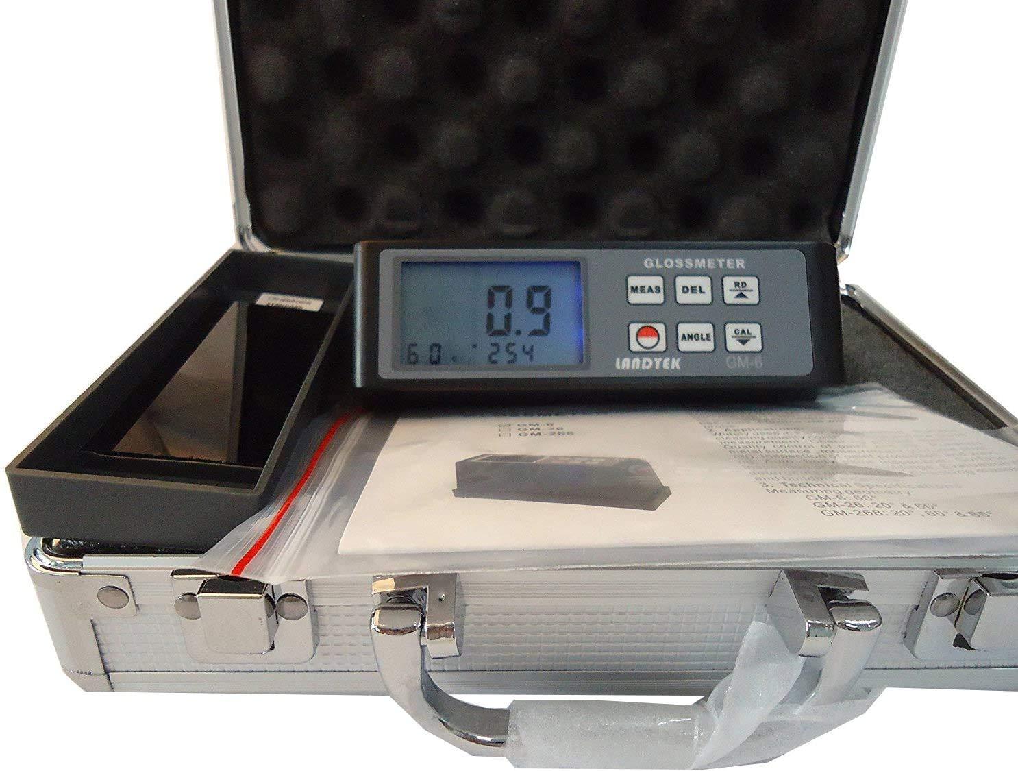 سطح الطلاء البلاستيك ورقة Vancometer اختبار 60 درجة واحدة الملاك Glossmeter مع GM6 المدى 0.1-200Gu لمعان قياس قياس