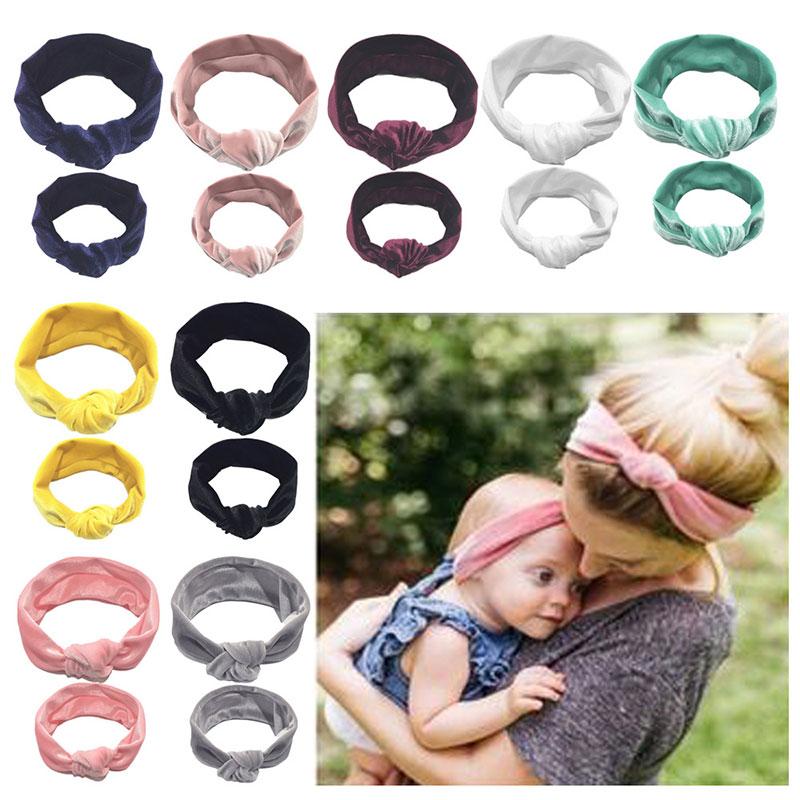 Bandas de cabelo para criança, 2 peças, mãe, bebê, filha, criança, menina, pontos de cabelo, tiara, faixa de cabelo acessórios