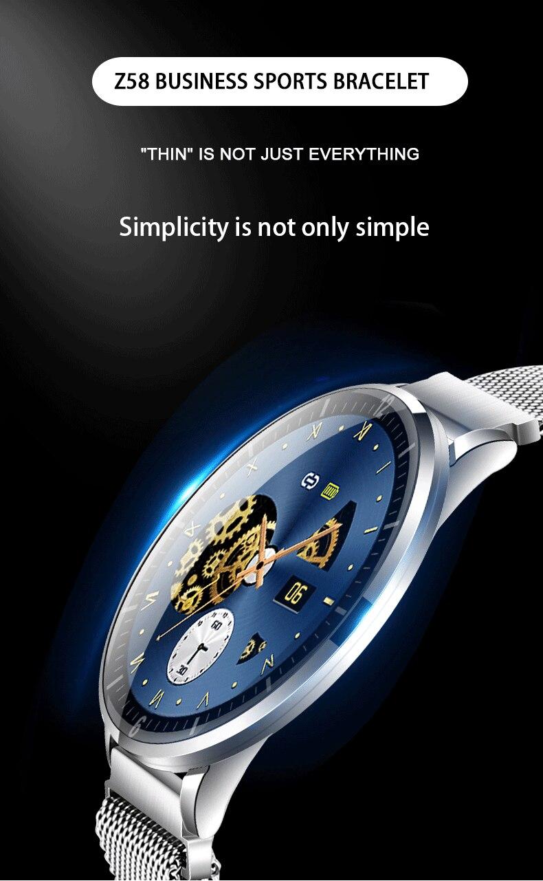 Reloj inteligente Z58 para hombre, Monitor de ritmo cardíaco, presión arterial, podómetro, rastreador de Fitness, reloj resistente al agua para Android IOS
