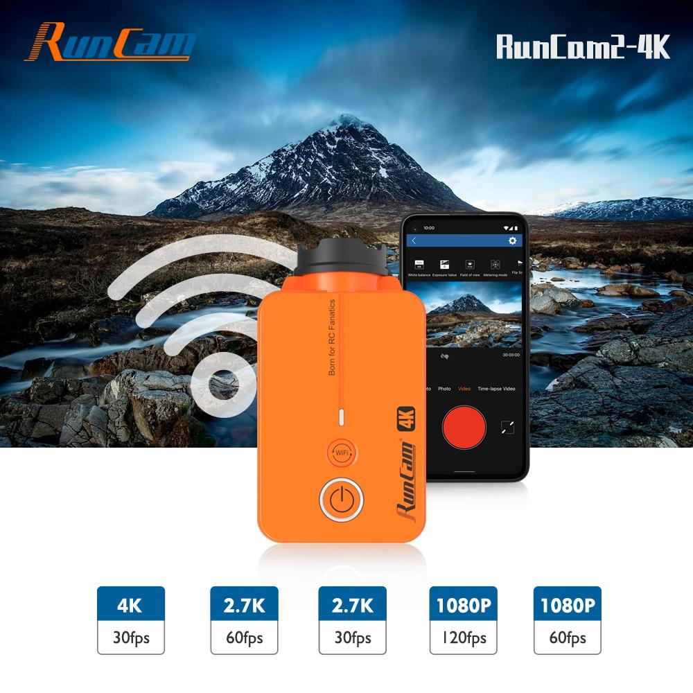 Promo RunCam2 4K HD FPV Sports Action Camera WiFi APP Supported Drone Camcorder Mini Film Video Recorder for Quadcopter Accessories
