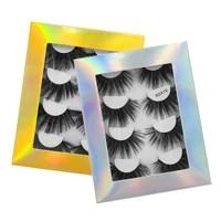 4 pairs 3d mink hair false eyelashes criss cross wispy cross fluffy length 25 30mm lashes extension handmade eye makeup tools