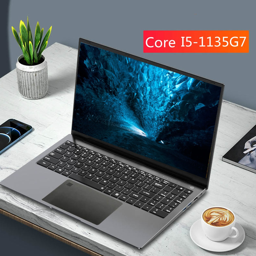 Get Max Ram 32GB Rom 2TB 11th Gen 15.6 Inch Laptop Intel Core  i5 1135G7  Metal Notebook Ultrabook Windows 10 Netbook 5g WiFi