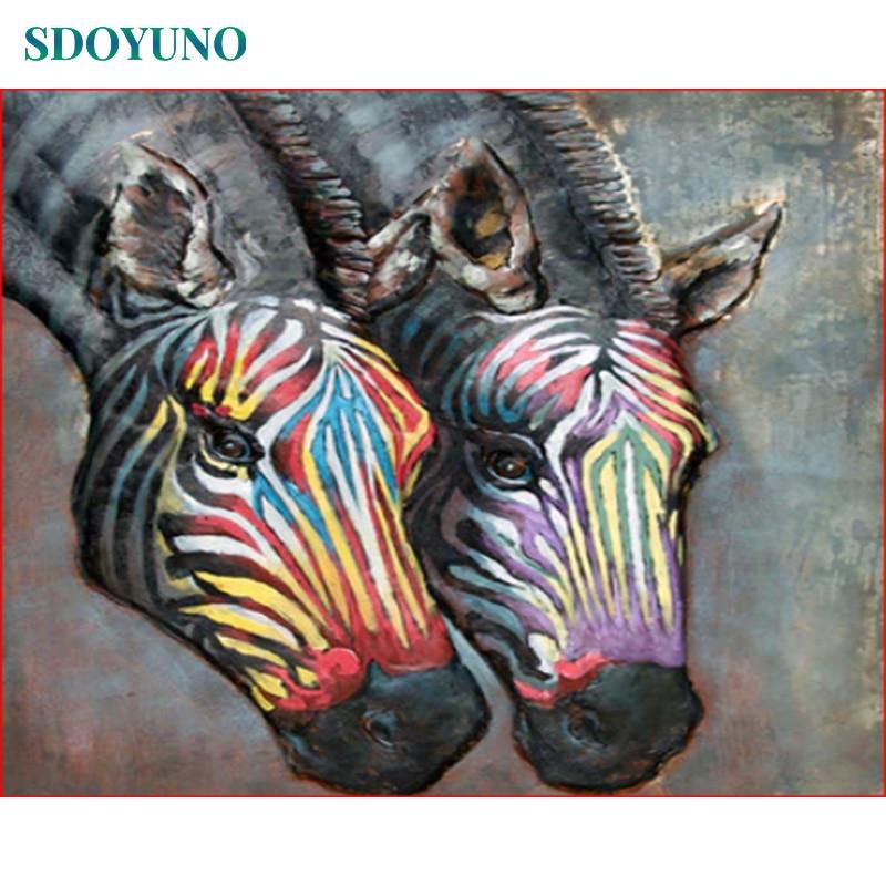 SDOYUNO 60x75 cm Cuadros Pintura por Numero pintar por numeros oleo imágenes acrílicas por números enmarcado DIY regalo pintura al óleo por números animales pared arte para colorear los números de lona