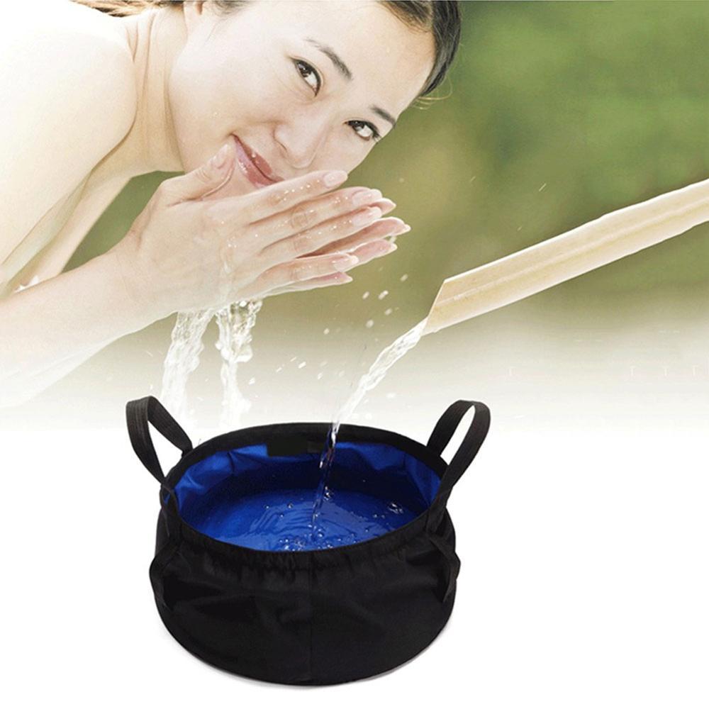 Portable Outdoor Travel Foldable Folding Camping Washbasin Basin Bucket Bowl Sink Washing Bag Water bucket
