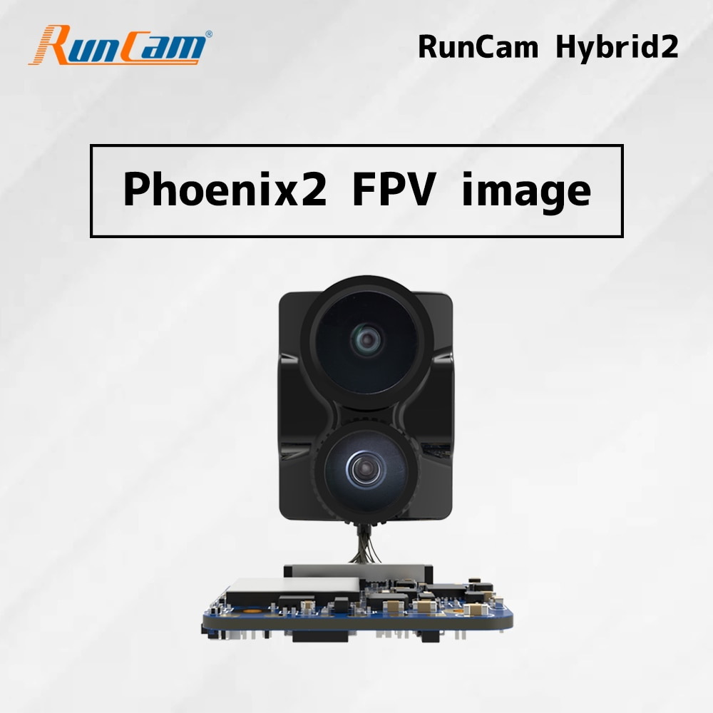 RunCam هايبرد 2 4K FPV وكاميرا تسجيل عالية الدقة مع عدسة مزدوجة FOV 145 درجة لوحة واحدة ، إعدادات معلمة رمز الاستجابة السريعة 18g الكمون المنخفض