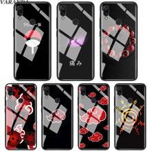 Anime Naruto Sharingan Rinnegan étui en verre trempé pour Xiao mi A3 Lite rouge mi K20 Pro 7 Note 6 7 Pro Coque de téléphone en verre