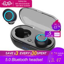 2021 TWS Wireless Bluetooth 5.0 Earphone Touch Control 9D Stereo Headset with Mic Sport Earphones Waterproof Earbuds LED Display