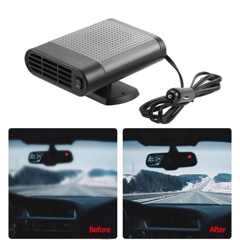 VODOOL 12V 150W calentador de coche automático ventilador de refrigeración de calefacción de aire invierno parabrisas Interior del coche ventana eliminador de niebla Defroster Demister