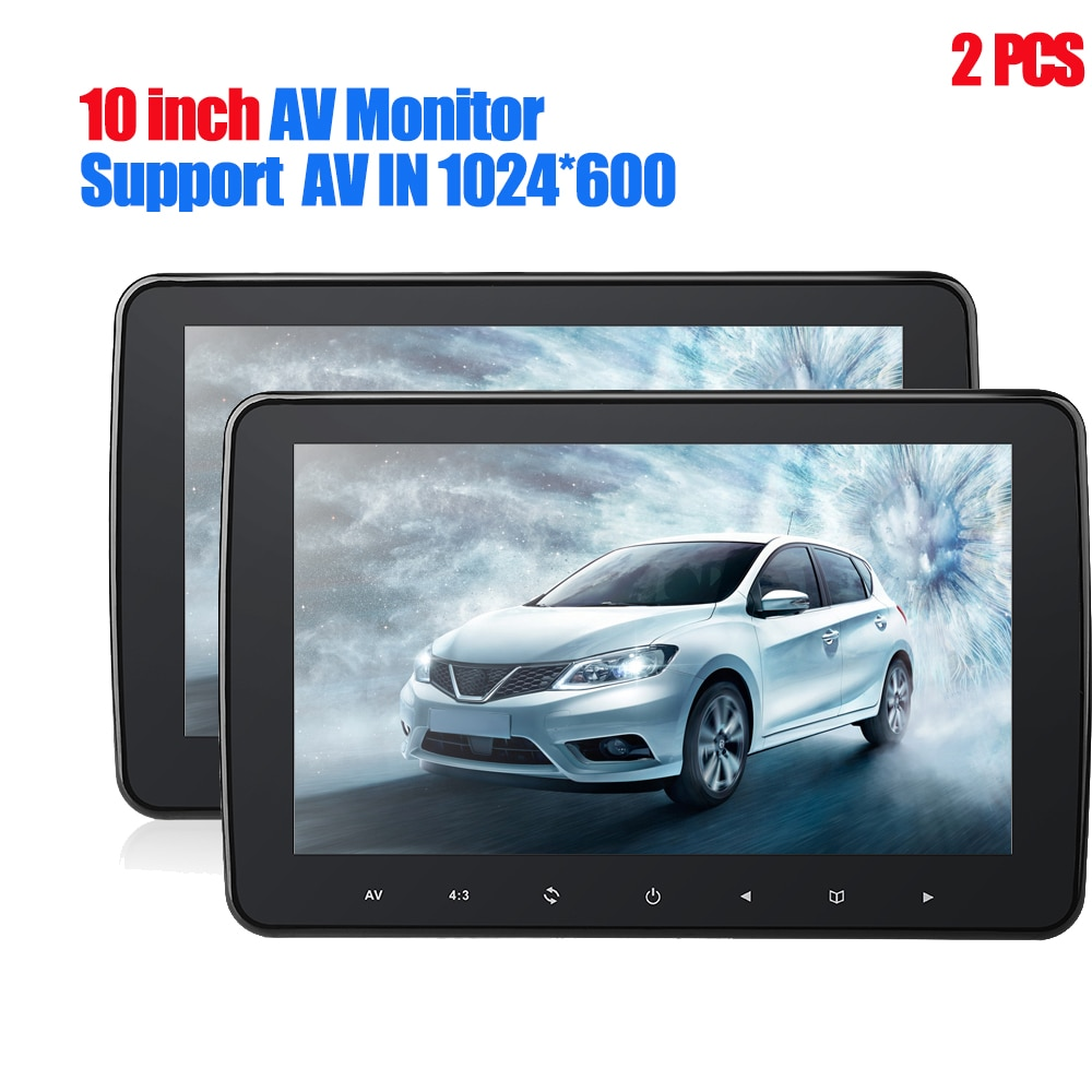 1024*600 with HD Radio AV monitor for car radio DVD Player 10 Inch TFT Digital LCD Screen Car Headre