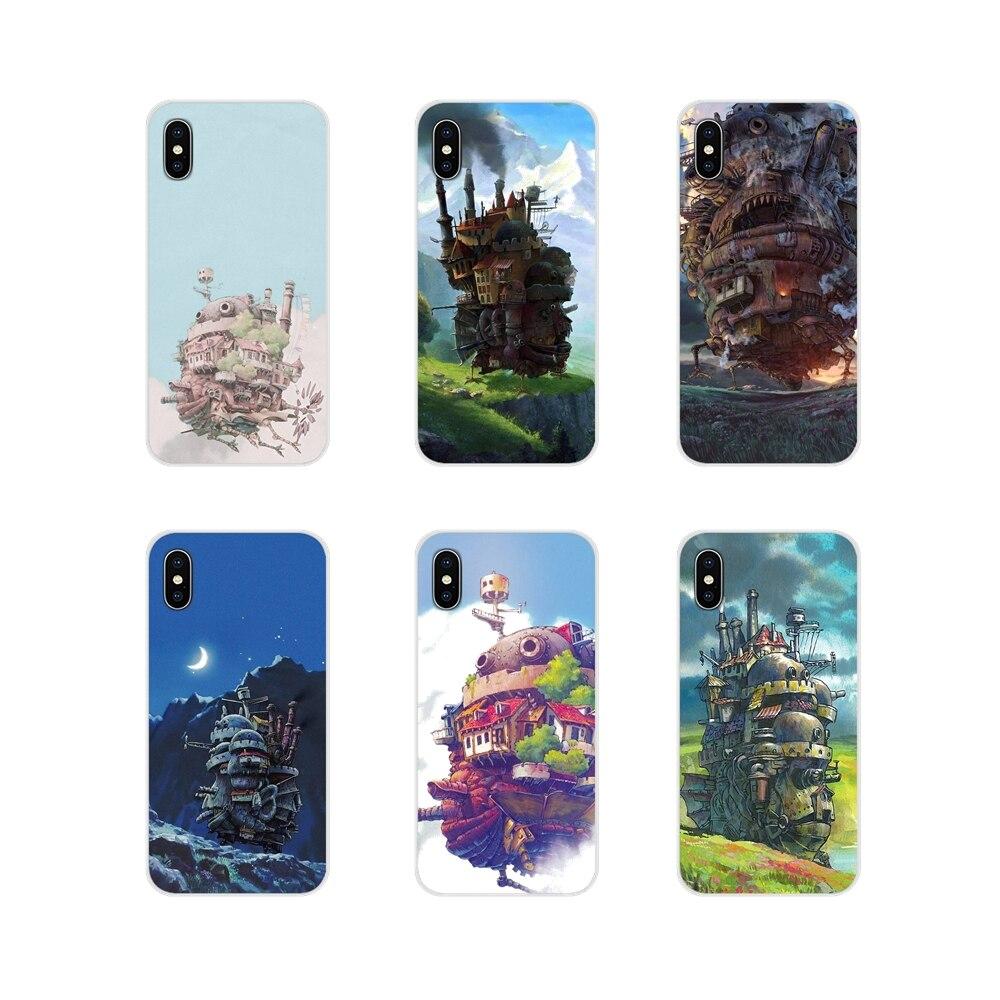 Aullidos mover Castillo Studio Ghibli para iPhone X de Apple XR XS 11Pro MAX 4S 5S 5C SE 6 6 S 7 7 Plus ipod touch 5 6 funda de silicona cubre