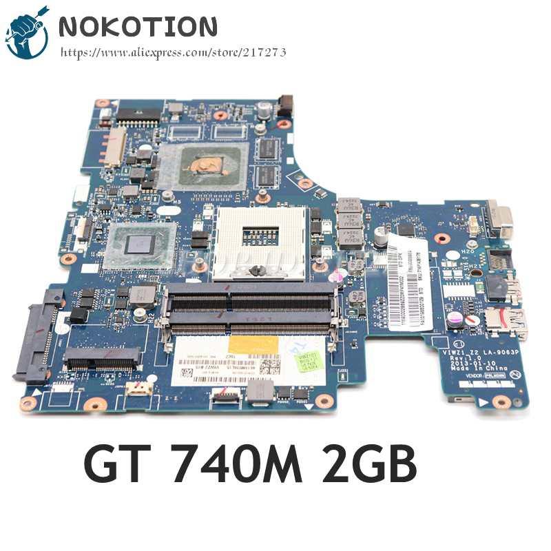 NOKOTION لينوفو IdeaPad Z500 اللوحة المحمول 15 بوصة VIWZ1_Z2 LA-9063P HM76 DDR3 GT740M 2 جيجابايت الرسومات