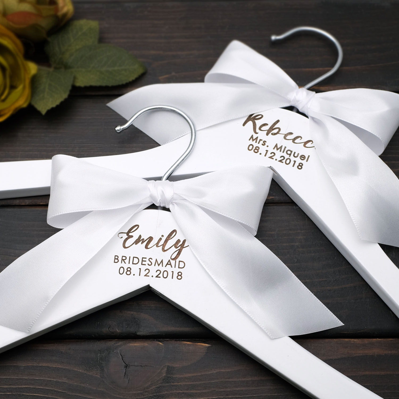Personalized Wedding Hanger,Wedding Dress Hanger,Laser Cut Clothes Hanger,Flower Girl,Bridesmaid Gif