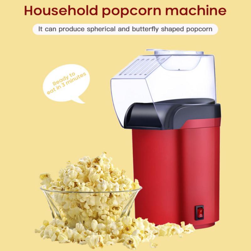 Mini Electric Popcorn Maker Hot Air Oil-free Health Quick Corn Popper Making Machines For Movie Children Snacks Gift
