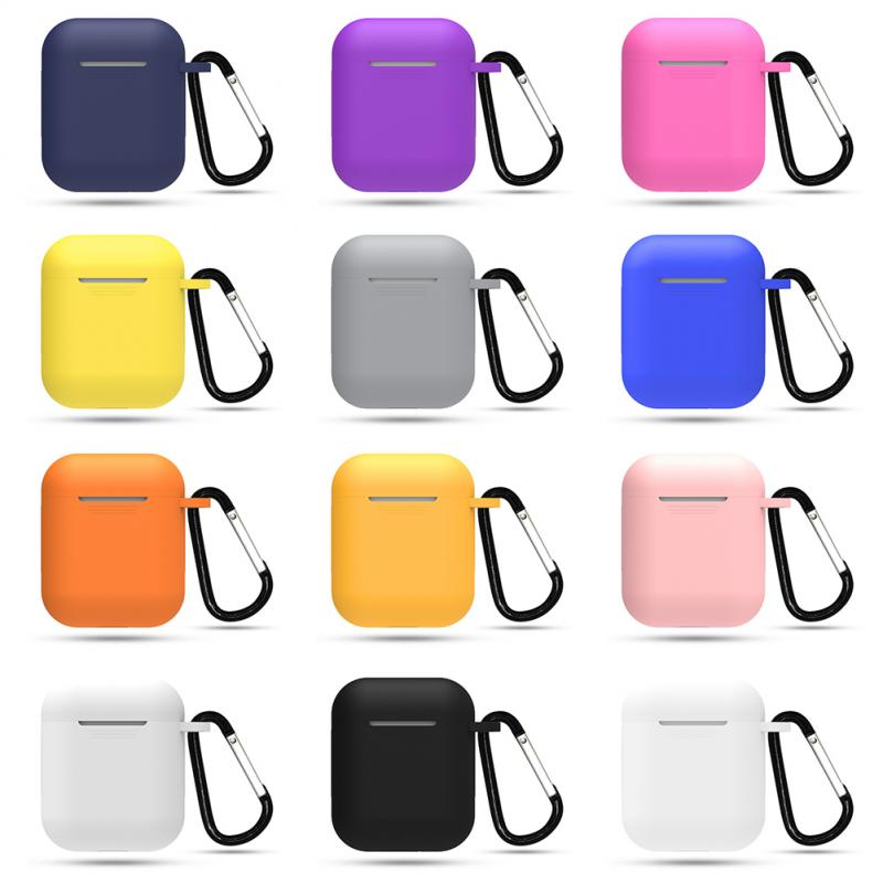 1pcs Silicone Cases For Apple Airpods 1/2 Protective Shockproof Wireless Earphone Cover For Apple Ai