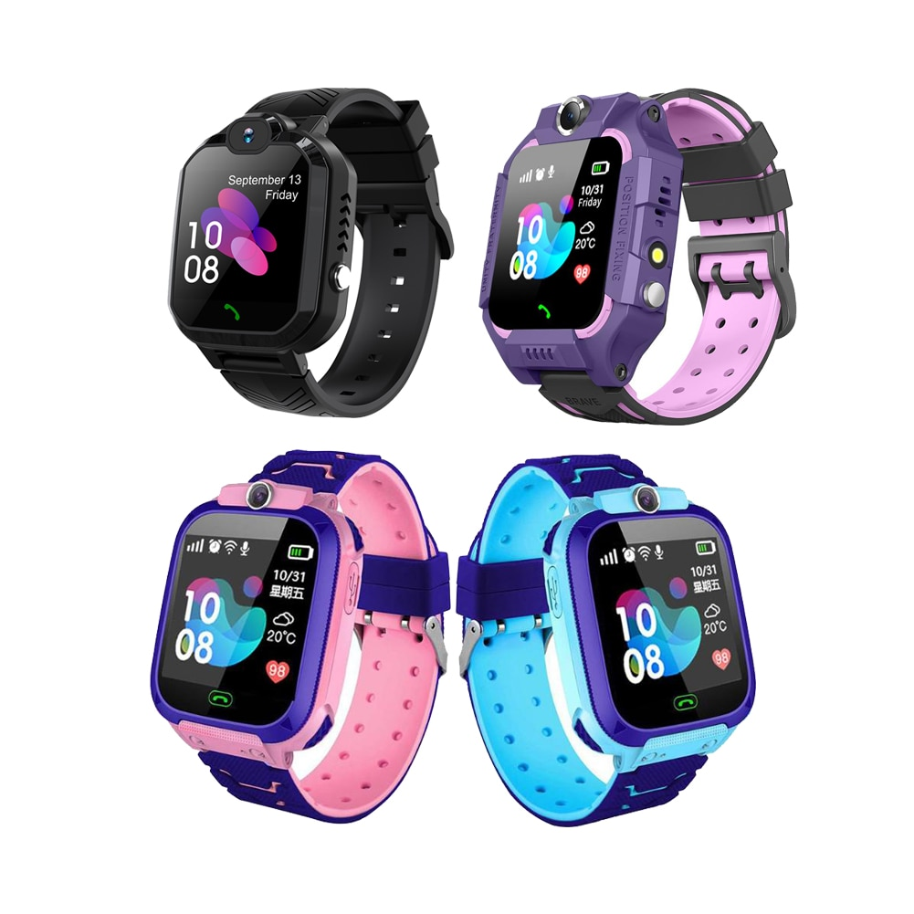 Q12 Children's Smart Watch SOS Phone Watch Smartwatch For Kids Support SIM Card Photo 400mAh Battery Kids Gift For IOS Android