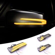 LEEPEE Auto coche LED espejo retrovisor del coche luz direccional intermitente indicador para BENZ W221 W212 W204 W176 X156 C204 C117