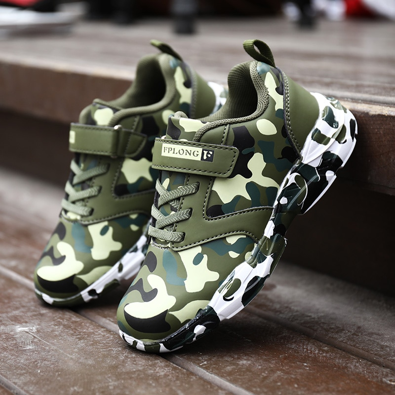 Children Shoes for Baby Boys Girls Sneakers Light Kids Casual Breathable Soft Running Fashion Kids Camouflage Sports Shoes Boys
