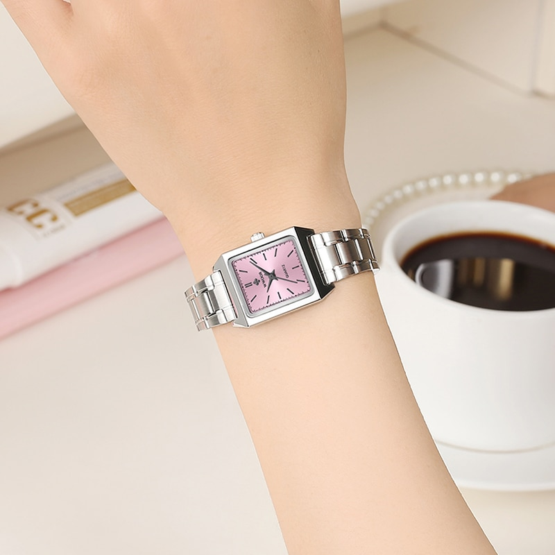 Relogio Feminino WWOOR Women's Square Watches Luxury Brand Ladies Quartz Wrist Watch Fashion Dress Bracelet Watch For Women 2020 enlarge