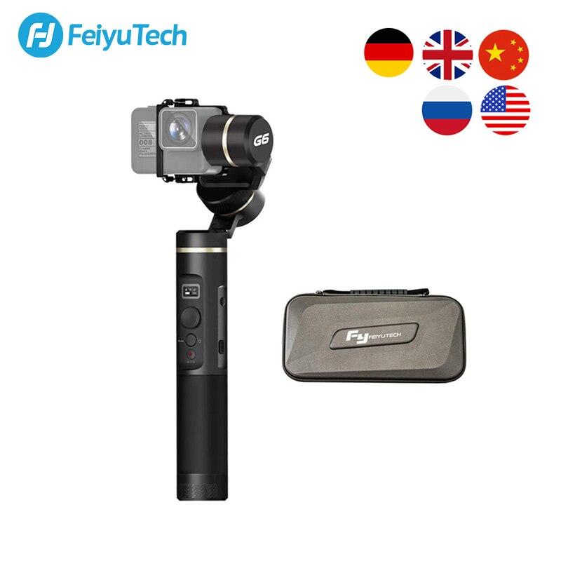 FeiyuTech Feiyu G6 3-Axis Action Camera Handheld Gimbal Stabilizer OLED Screen for Gopro Hero 8 7 6 5 Sony RX0 Yi cam 4K