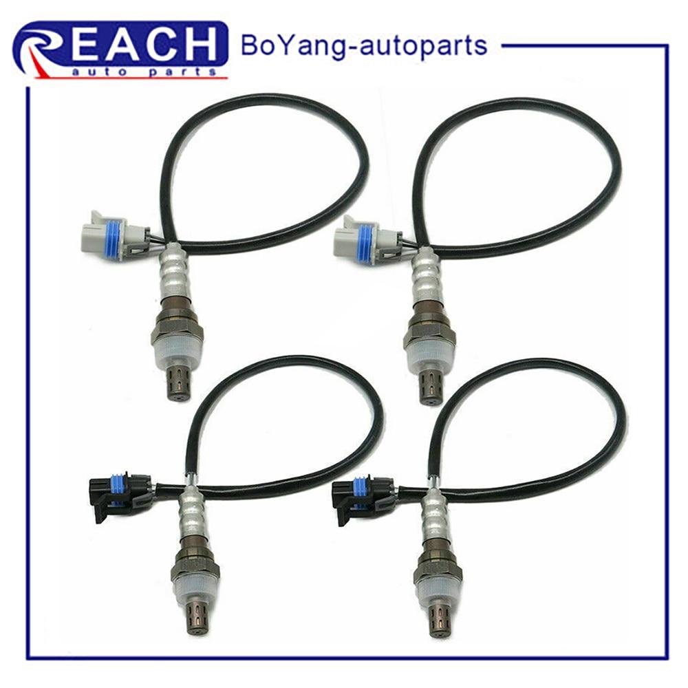 4 pces lambda o2 sensor de oxigênio a montante frente a jusante para chevrolet express 1500 2500 3500 gmc savana substituição do carro 234-4651