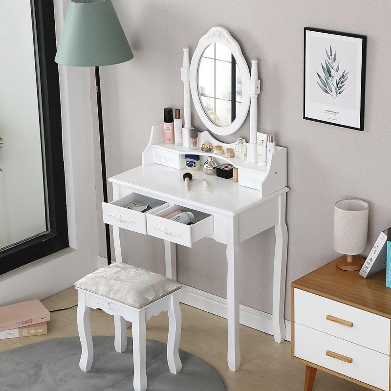 Роскошный современный туалетный столик для хранения в маленькой квартире, макияжный столик для одной спальни, туалетный столик в стиле Ins, т...
