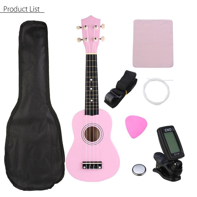 21 Inch Green Soprano Ukulele Basswood 4 Strings Hawaiian Guitar Musical Instruments Ukulele Soprano Guitar with Gig Bag Tuner enlarge