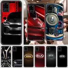 KIA Car logo Phone case For Samsung Galaxy Note 4 8 9 10 20 S8 S9 S10 S10E S20 Plus UITRA Ultra blac