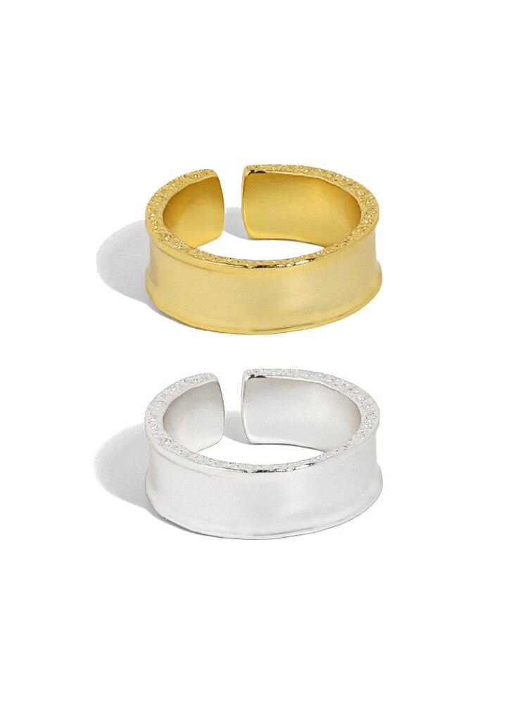 Минималистичные кольца с гладким дизайном для женщин, серебряные и золотые кольца для вечеринок 2021, трендовые женские кольца, изящные персо...