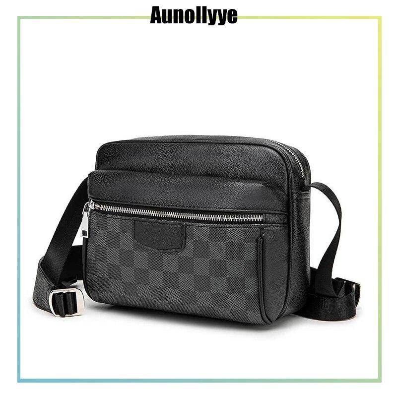 Crossbody Bags For Men Sling Small Shoulder Vintage Black Waterproof Messenger Bags Male Fashion Work Business Designer Handbags