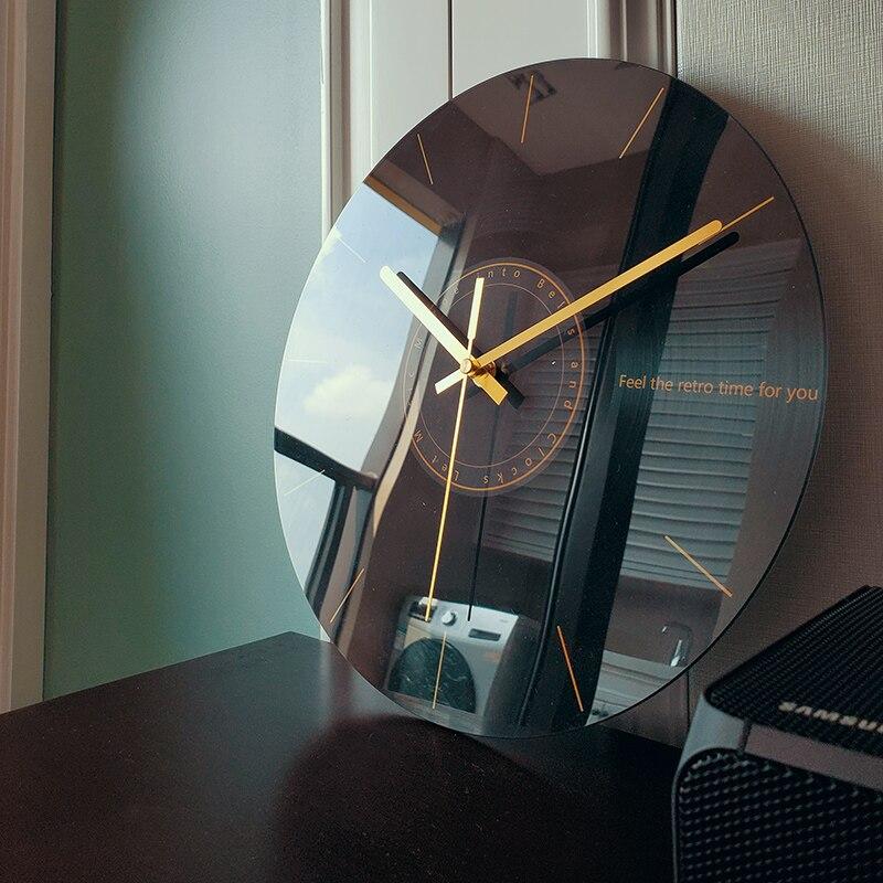Reloj de pared silencioso para sala de estar, reloj de moda creativo, arte minimalista moderno, lujoso Reloj de pared nórdico novedoso, diseño moderno W6