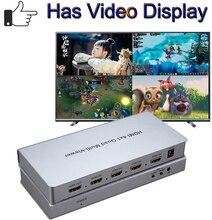 HDMI 4x1 Quad Multiviewer HDMI commutateur 4 en 1 Out 1080P Image séparateur de commutateur sans couture pour jeu DVD HDTV Multi visionneuse