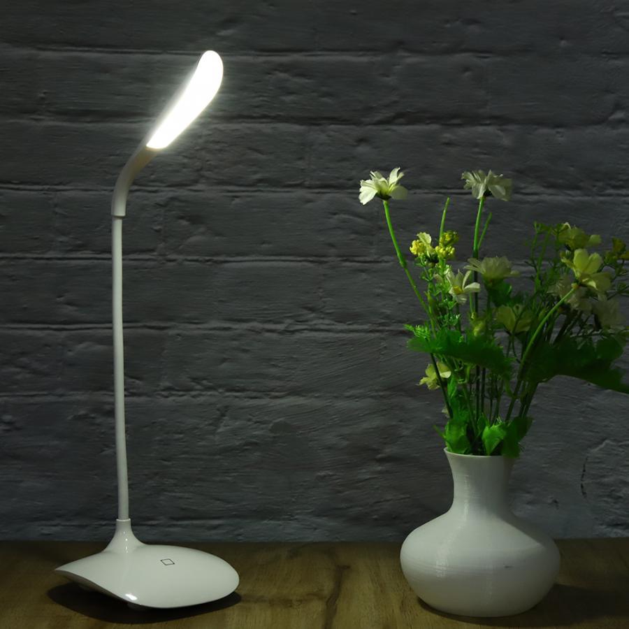 Luz LED de mesa, luz ajustable recargable por USB para estudiantes, escritorio, estudio, tatuaje, arte en uñas, maquillaje, luz Led