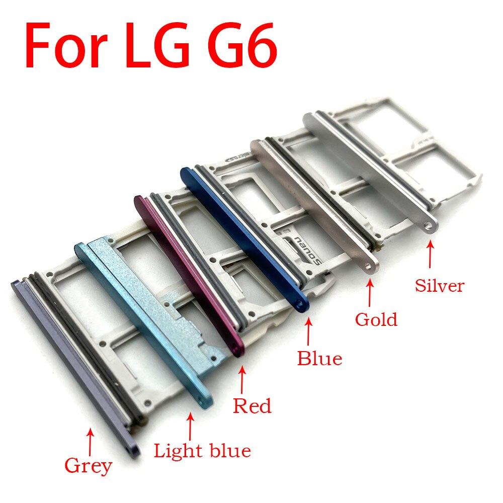 Nuevo soporte para bandeja de tarjeta SIM y ranura para tarjeta Micro SD, adaptador de soporte para tarjeta Sim para LG G6 US997 VS988 piezas de carcasa